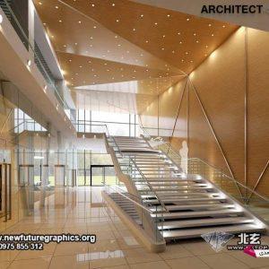 مدل سه بعدی معماری داخلی