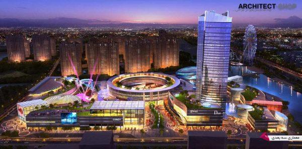 مدل سه بعدی طراحی شهری