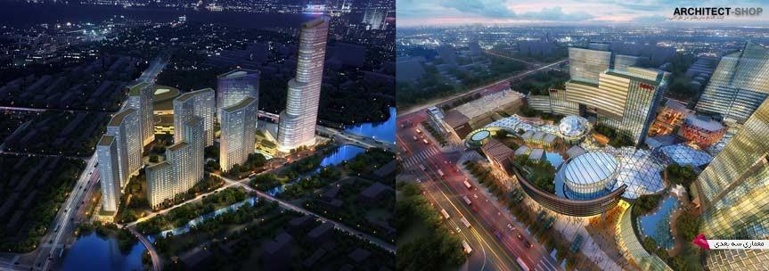 مدل سه بعدی فضای شهری