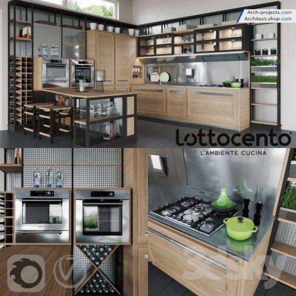 پک مدل سه بعدی کابینت آشپزخانه