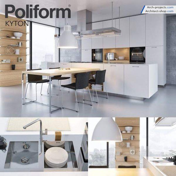 مدل سه بعدی کابینت آشپزخانه