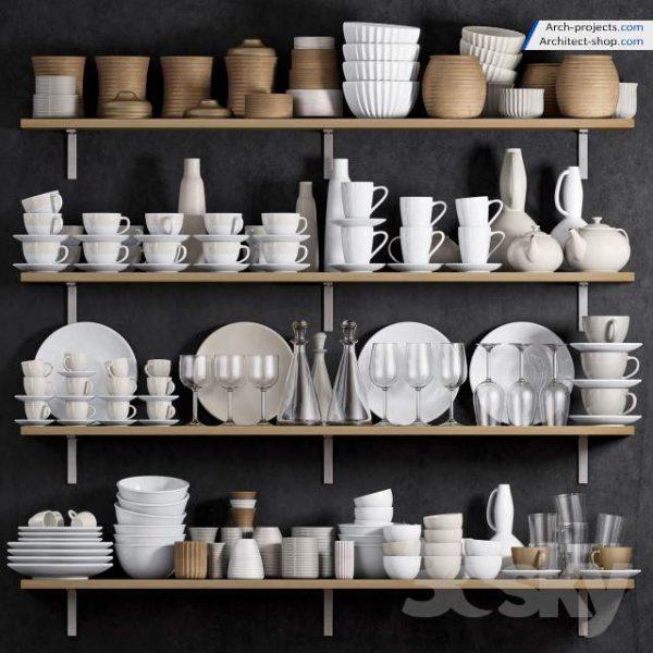 آبجکت ظروف آشپزخانه