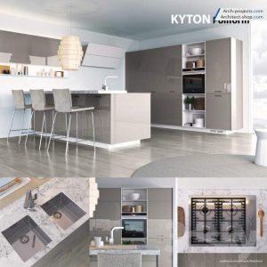 مدل سه بعدی کابینت آشپزخانه 3dmax