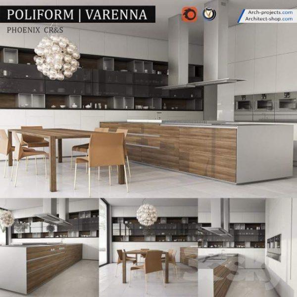 مدل کابینت آشپزخانه 3dmax