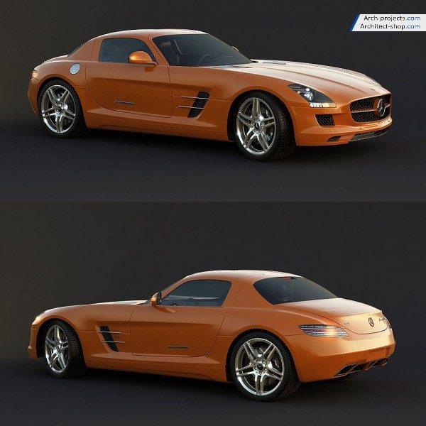 مدل سه بعدی بنز