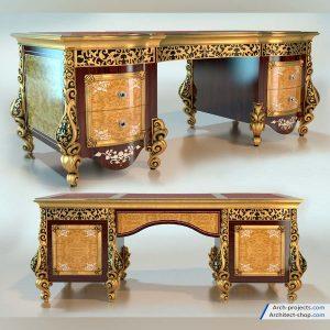 مدل سه بعدی میز اداری کلاسیک