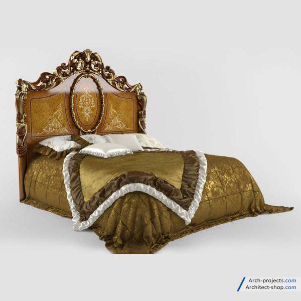آبجکت تخت خواب کلاسیک