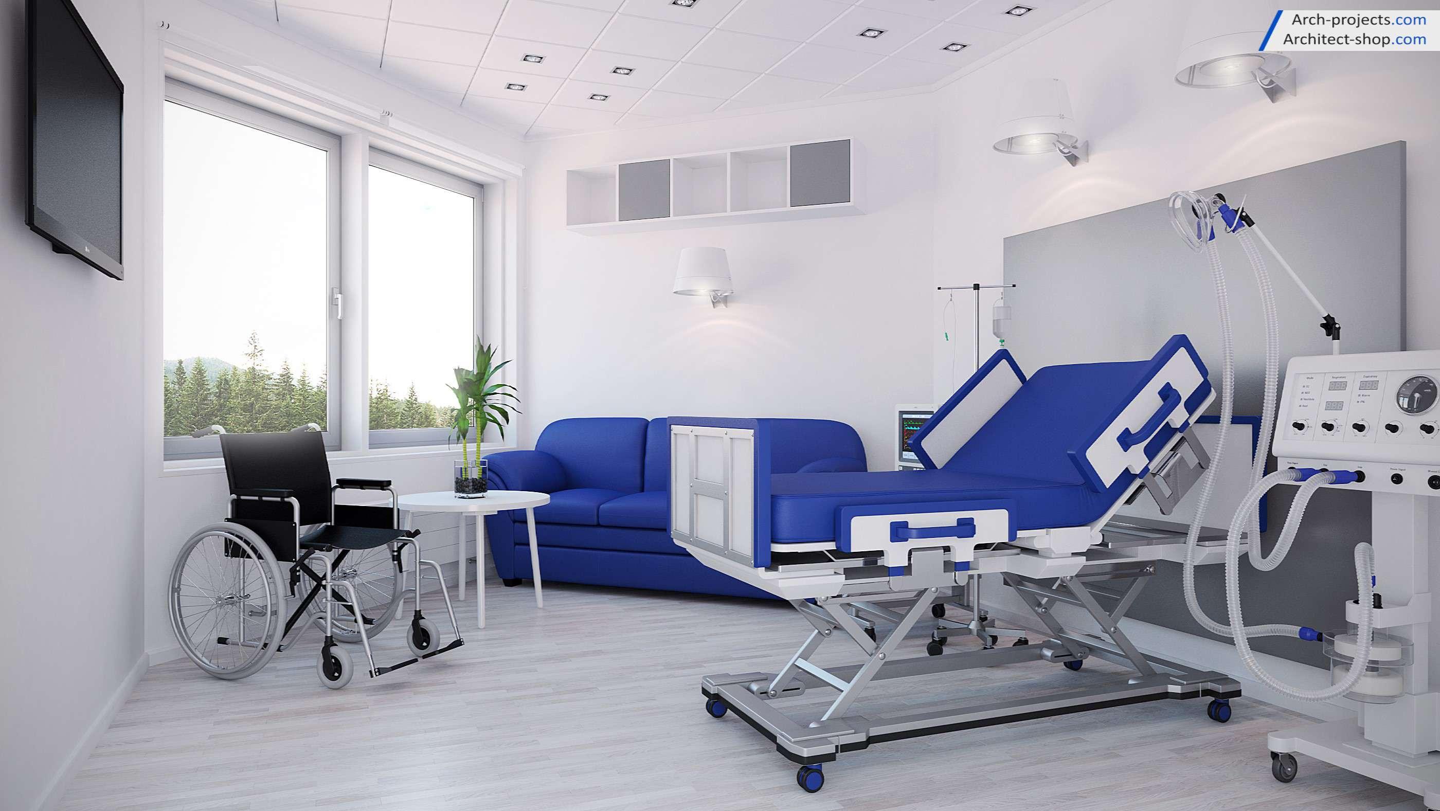 مدل سه بعدی بیمارستان