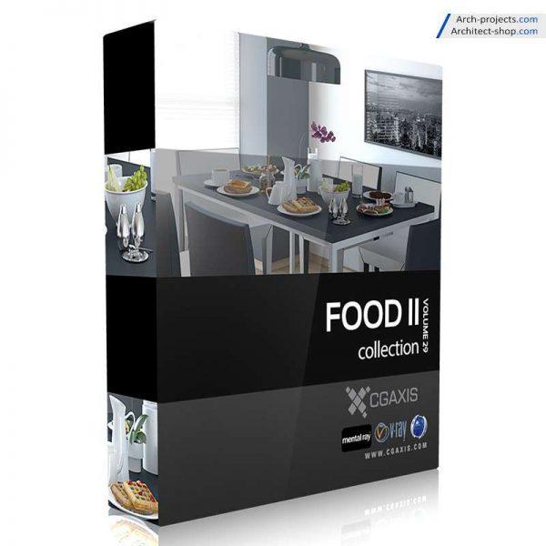 مدل سه بعدی غذا cgaxis