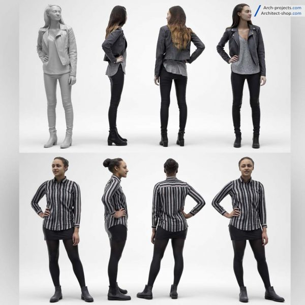 مدل سه بعدی انسان 3dmax