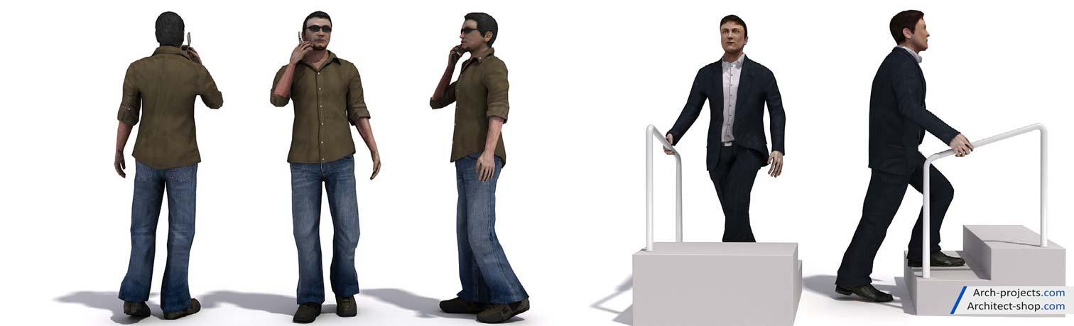 پک مدل سه بعدی انسان