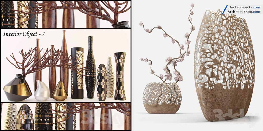 پک مدل سه بعدی درخت ، گل و گیاه