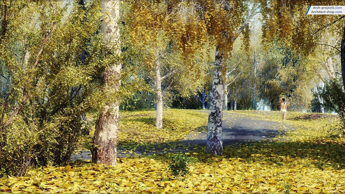 آبجکت درختان پاییزی