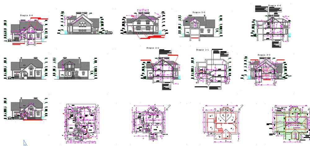 نقشه معماری ویلا